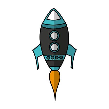 rocket start-up isolated icon vector illustration design Stock Illustratie