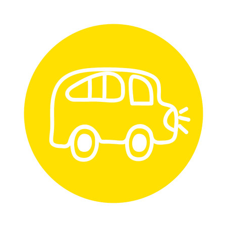 bus school drawing isolated icon vector illustration design
