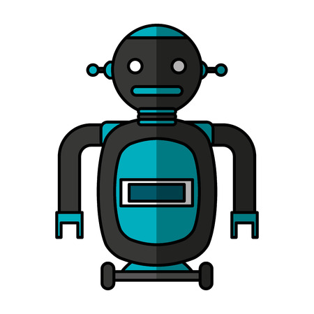 electric robot avatar character vector illustration design Foto de archivo - 122946481