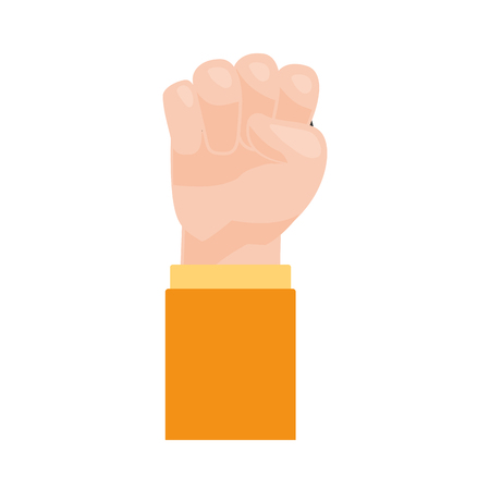 happy labour day hand raised fist vector illustration Çizim