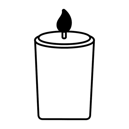 burning candle flame on white background vector illustration design Ilustrace