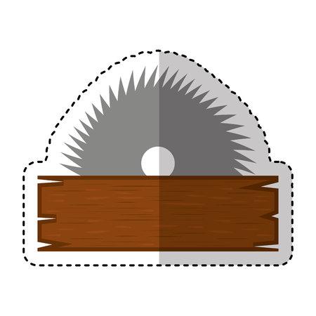 elektrische zaag gereedschap pictogram vector illustratie ontwerp