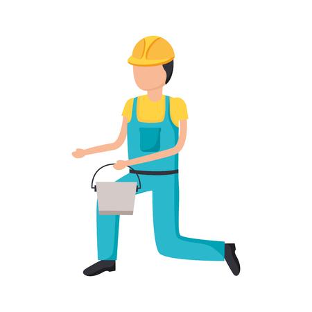 worker construction tool repair bucket vector illustration design Иллюстрация