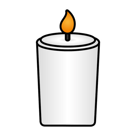 burning candle flame on white background vector illustration design Ilustração