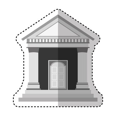 La construcción de columnas romanas icono, diseño de ilustraciones vectoriales