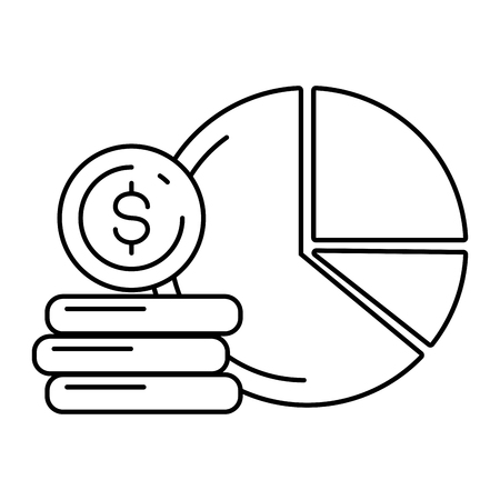 report diagram money online payment vector illustration Stock Illustratie