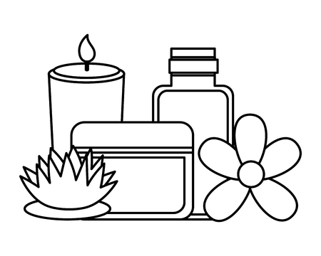 products care skin flower spa treatment therapy vector illustration 版權商用圖片 - 122946775