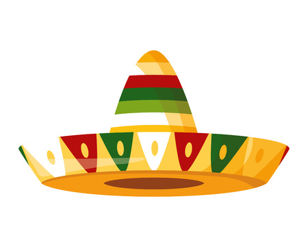 mexican hat traditional icon on white background vector illustration Foto de archivo - 122946806