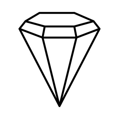 diamond luxury isolated icon vector illustration design Standard-Bild - 122947913