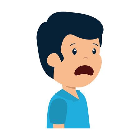 jeune homme triste, caractère, vecteur, illustration, conception