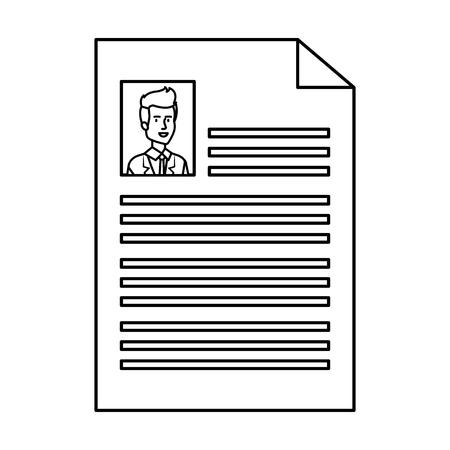 doctor curriculum vitae document vector illustration design
