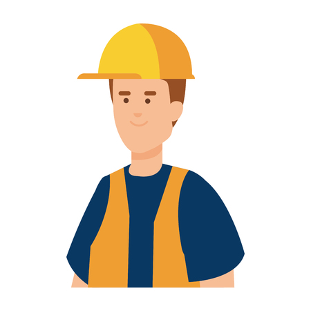 builder worker with helmet vector illustration design Ilustracja