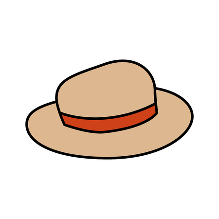 tourist hat isolated icon vector illustration design 向量圖像