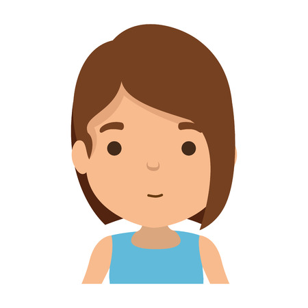 cute little girl character vector illustration design Banco de Imagens - 121507695