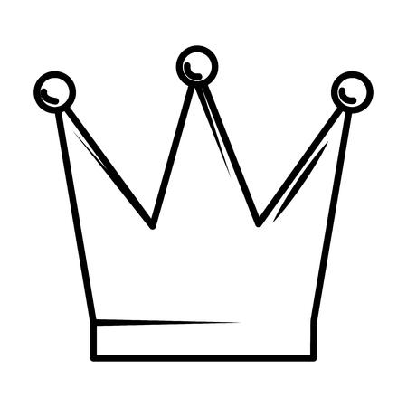 Couronne de la reine conception d'illustration vectorielle icône isolé