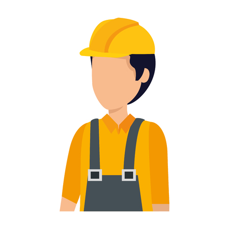 builder worker with helmet vector illustration design Çizim