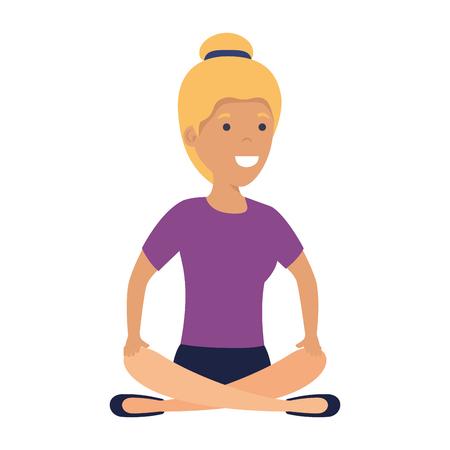young woman in lotus position vector illustration design Ilustração