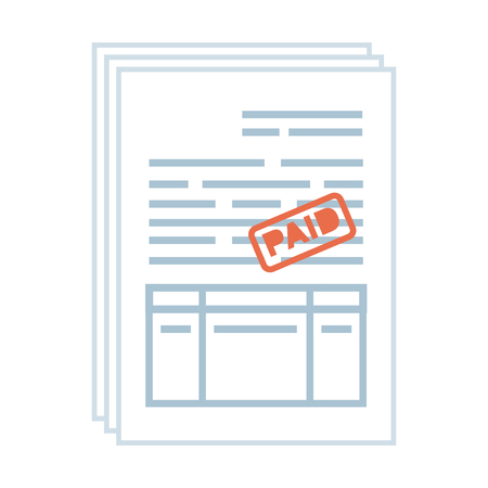 tax documents paper icon vector illustartion design Foto de archivo - 122948333