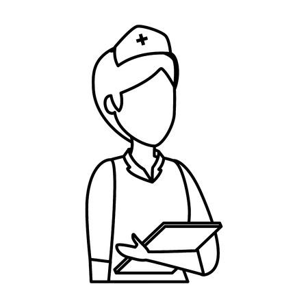 professional female nurse character vector illustration design Vector Illustration