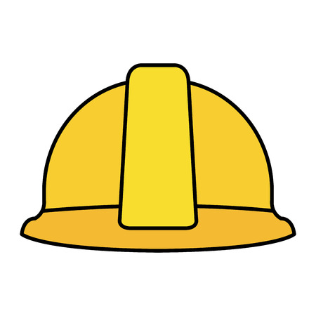 construction helmet protection icon vector illustration design