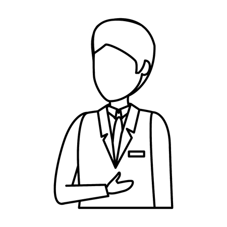 flight attendant avatar character vector illustration design Çizim