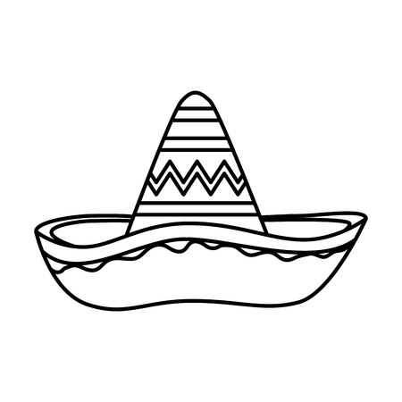 Sombrero mexicano mariachi icono diseño ilustración vectorial Ilustración de vector