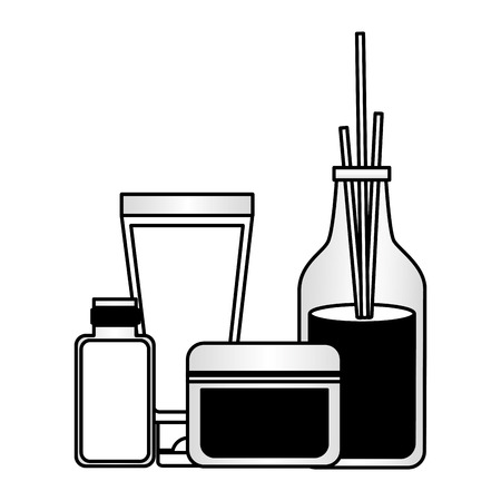 aromatherapy sticks cosmetics products spa treatment therapy vector illustration