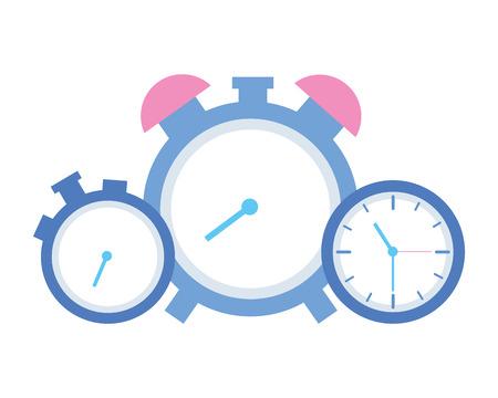 businessmen clock time on white background Illusztráció