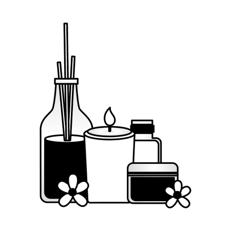 aromatherapy sticks candle gel tube spa treatment therapy vector illustration  イラスト・ベクター素材