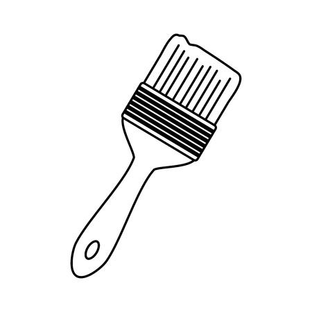 brush tool icon on white background vector illustration Ilustrace