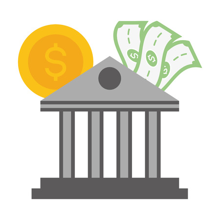 bank money coin banknote online payment vector illustration