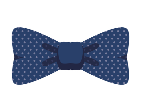 hipster bowtie accessory on white background vector illustration design