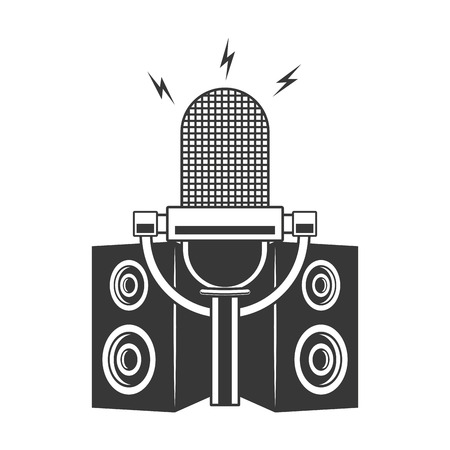 microphone and speakers musical vector illustration design