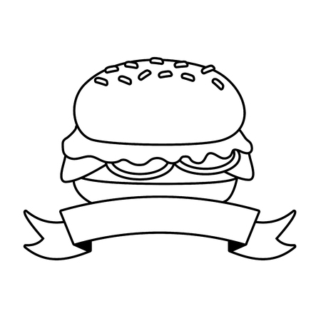 burger fast food on white background vector illustration Ilustracja