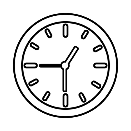 clock time icon on white background Stock Vector - 122916223
