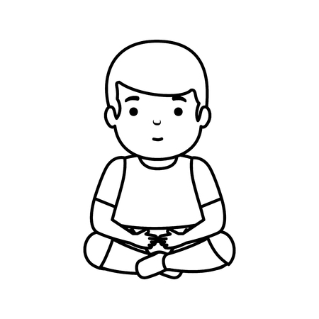 young man seated avatar character vector illustration design Foto de archivo - 122916254