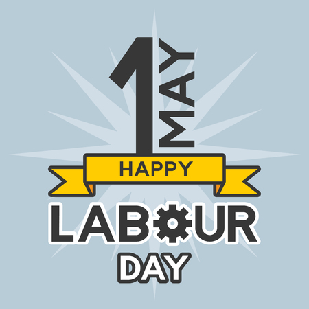 happy labour day 1 may celebration vector illustration