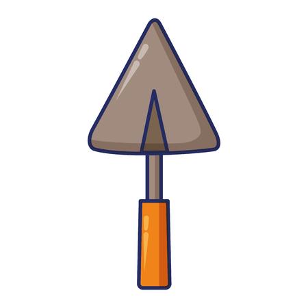 spatel bouw gereedschap vector illustratie ontwerp afbeelding