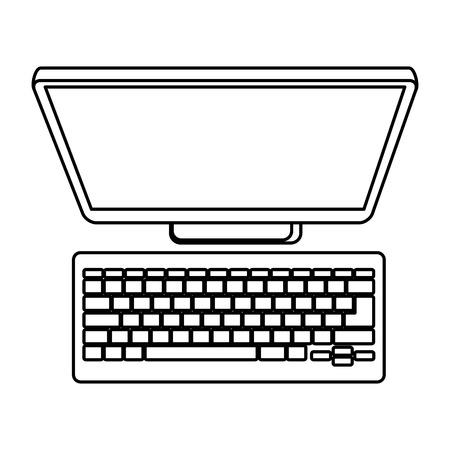 computer desktop isolated icon vector illustration design Illustration