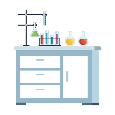 laboratory drawer isolated icon vector illustration design