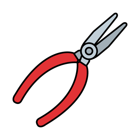 Pinces électriques icône de l'outil de conception d'illustration vectorielle