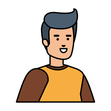 young and casual man character vector illustration design 向量圖像