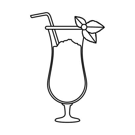 tropical cocktail beverage icon vector illustration design