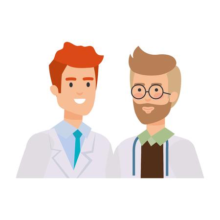 professionals doctors avatars characters vector illustration design Иллюстрация