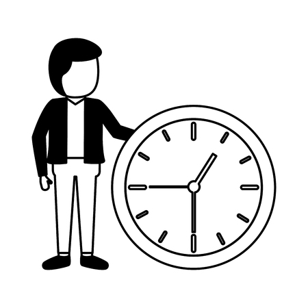 businessmen clock time on white background Stock Vector - 122916833