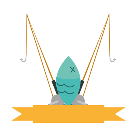 fishing rod isolated icon vector illustration design Standard-Bild - 122916837