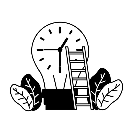 businessmen clock time on white background Stock Vector - 122918543