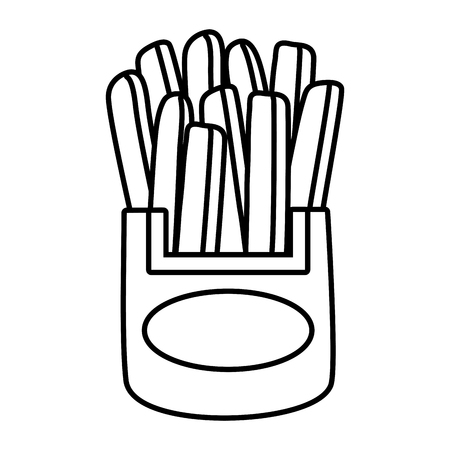 french fries food on white background vector illustration Standard-Bild - 122918560