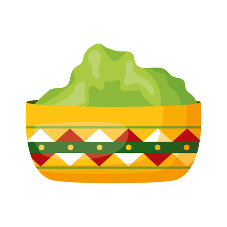 bowl with guacamole sauce fresh vector illustration Stok Fotoğraf - 122918601