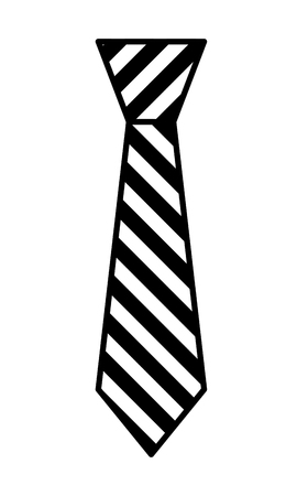tie accessory for men vector illustration design